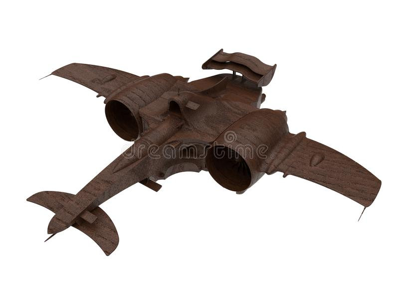 Futuristic spacecraft sculpture stock illustration