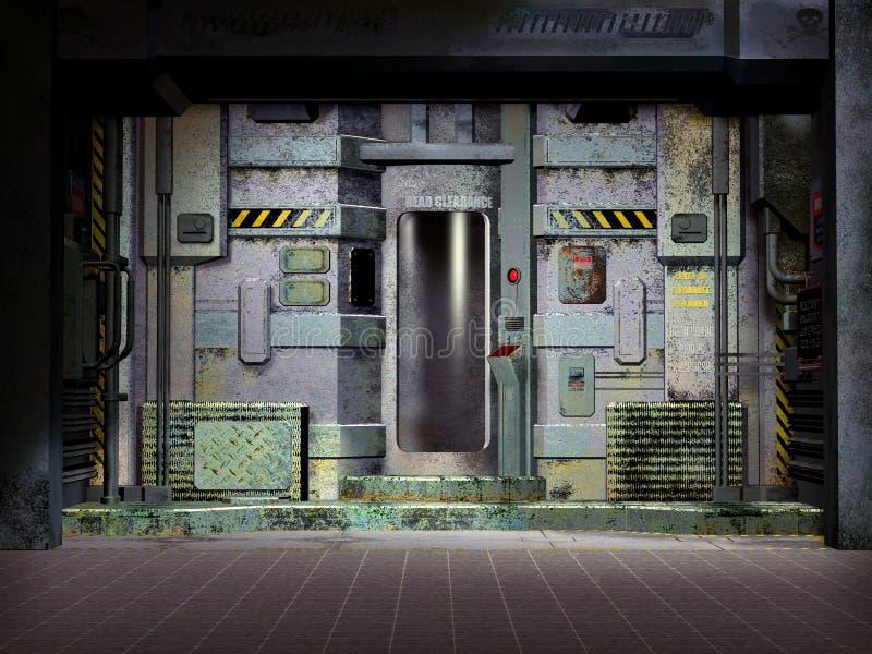 Futuristic spaceship room stock illustration