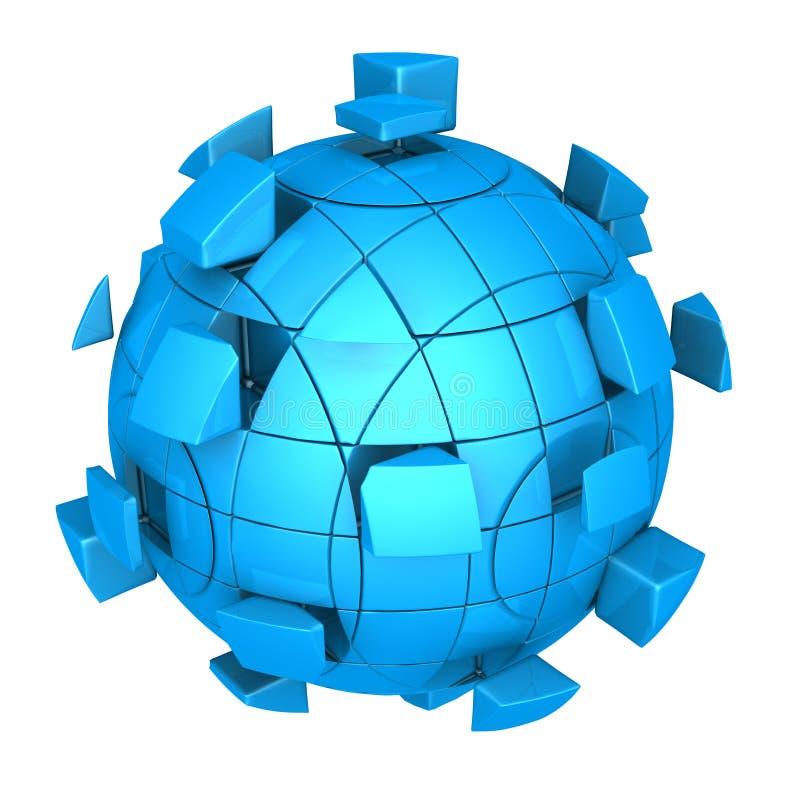 Download Futuristic sphere stock illustration. Image of company - 26899661
