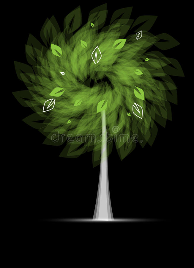 Download Futuristic Stylized Tree With Leafage Stock Vector - Illustration: 25920200
