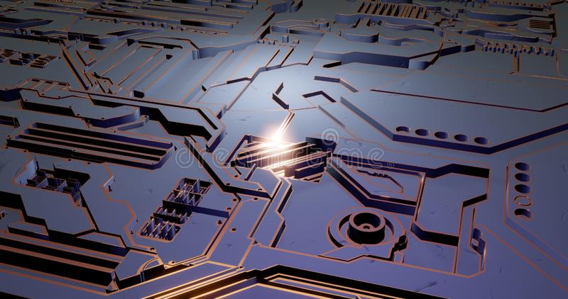 Futuristic surface of low-poly elements and parts. illustration in the style of isometry. background royalty free stock image