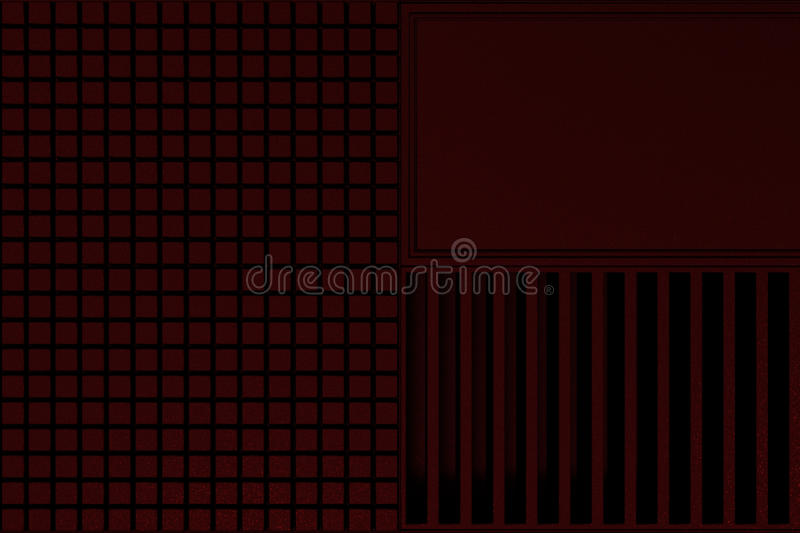 Futuristic technological or industrial background made from metal grates and extruded elements. Abstract background. 3D rendering illustration stock illustration