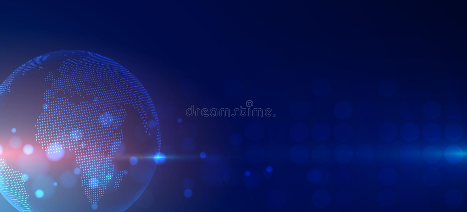 Futuristic technology background Business and development direction. Digital World royalty free illustration