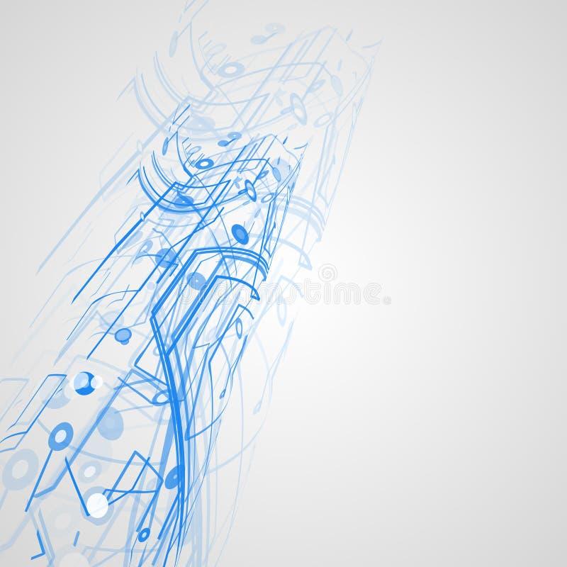 Futuristic technology illustration