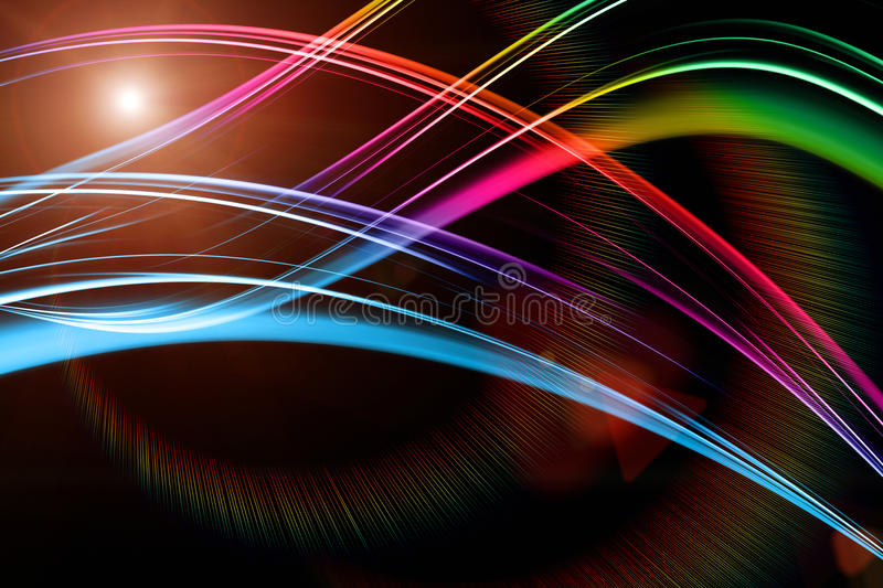 Futuristic technology wave background design. With lights royalty free stock photo