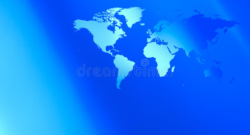 Futuristic technology world map blue background vector illustration