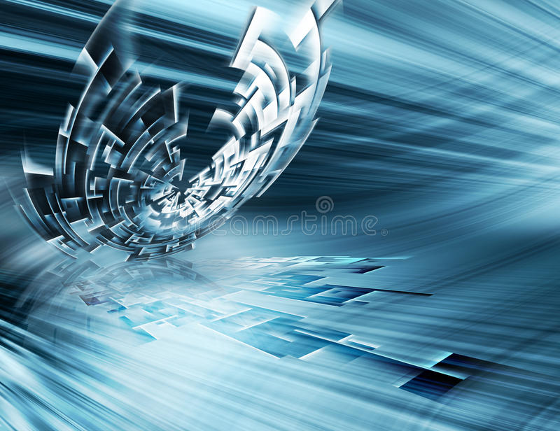 futuristic teknologi vektor illustrationer