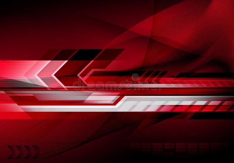 futuristic teknologi för abstrakt bakgrund vektor illustrationer