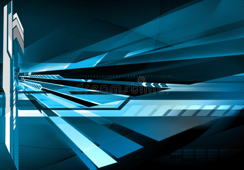 futuristic teknologi för abstrakt bakgrund royaltyfri illustrationer