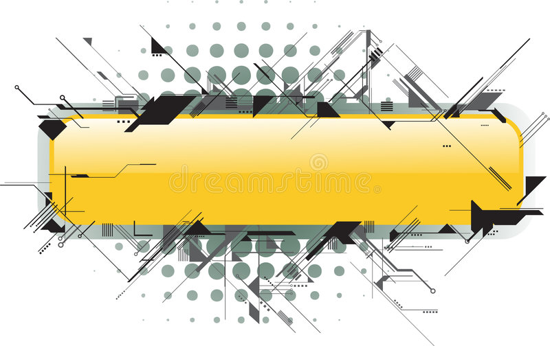 Download Futuristic text area stock vector. Illustration of banner - 5029877