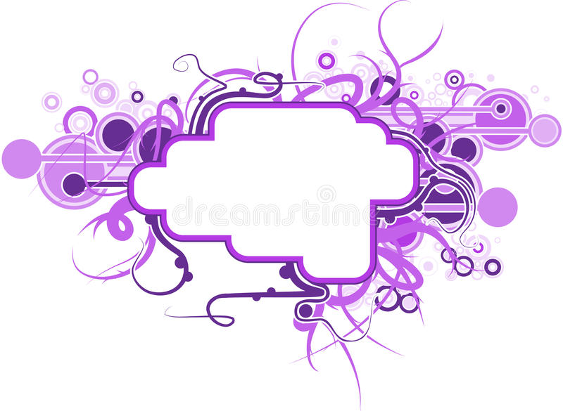 Futuristic text place. For your message stock illustration