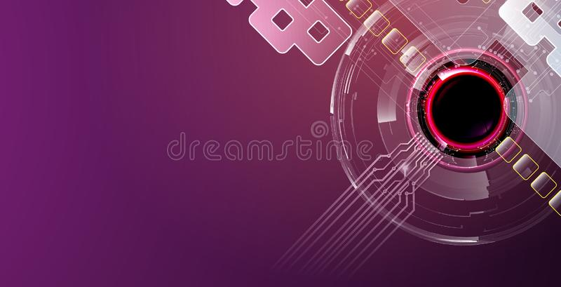 Futuristic theme abstract background with purple colors stock images