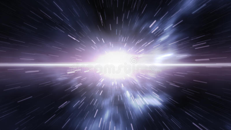 Futuristic timetravel or space warp vector illustration