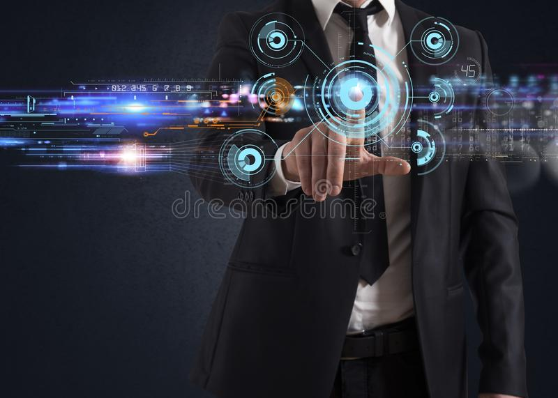 Download Futuristic Touch Screen Interface Stock Photo - Image: 36575186