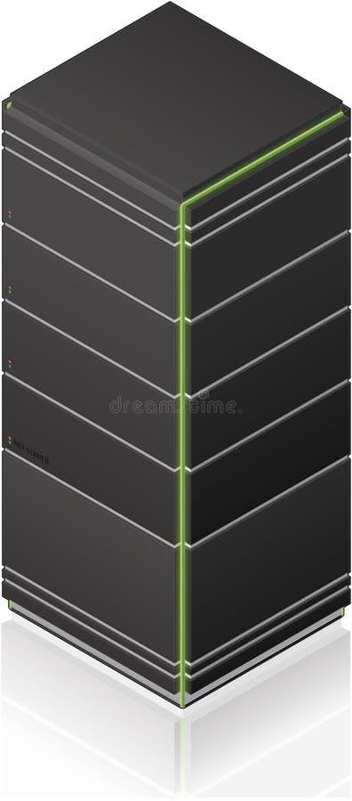 Futuristic Tower Server Rack stock illustration
