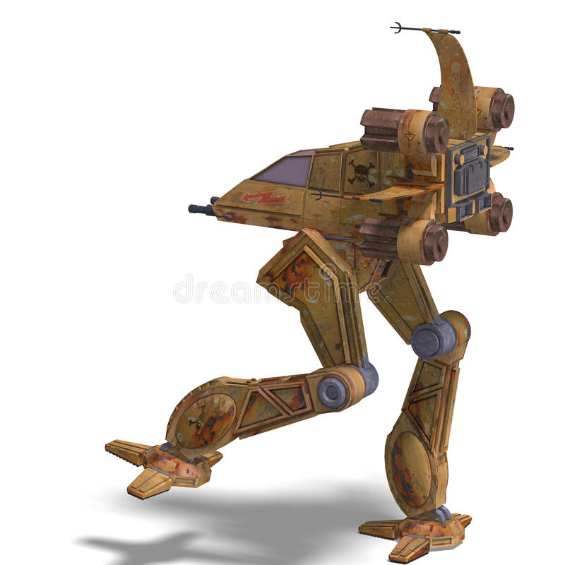 Download Futuristic Transforming Scifi Robot And Spaceship Stock Illustration - Image: 11002615