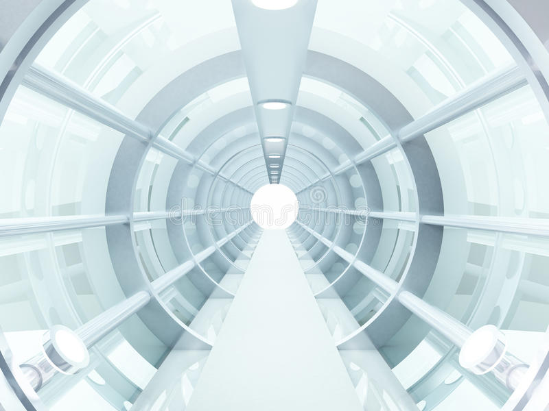 futuristic tunnel stock illustrationer