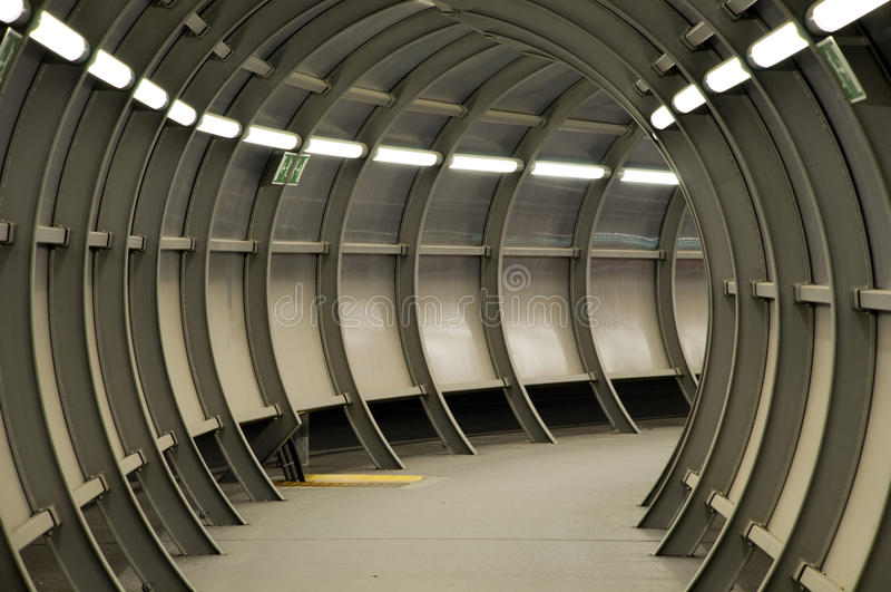 futuristic tunnel royaltyfria bilder