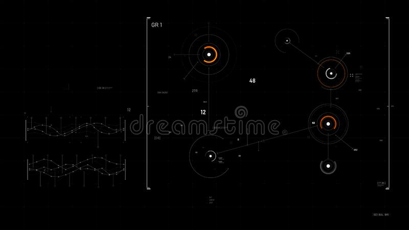 Futuristic user interface design element Video overlay 013. Futuristic user interface design element text box scale and bar for video overlay cyber and vector illustration