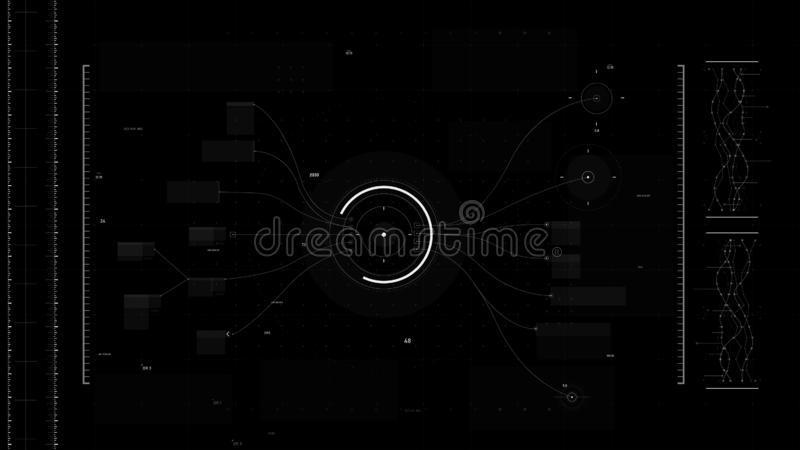 Futuristic user interface design element Video overlay 015. Futuristic user interface design element text box scale and bar for video overlay cyber and vector illustration
