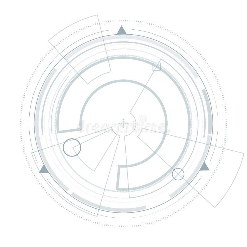 Futuristic user interface HUD. Virtual graphic. royalty free illustration