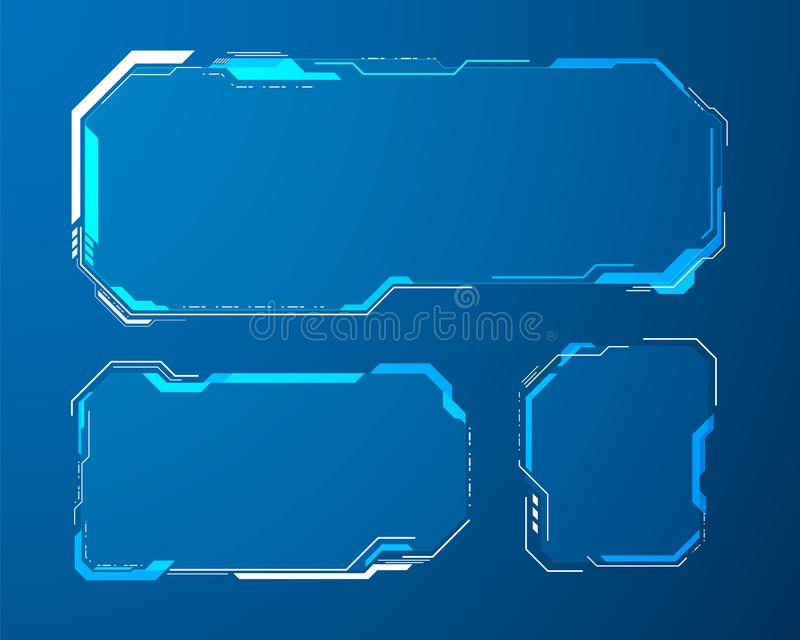 Futuristic user menu interface. vector illustration eps10 stock illustration