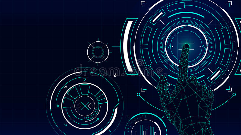 Futuristic vector background, hud technology touch screen interface. Futuristic vector illustration background, hud technology touch screen interface vector illustration