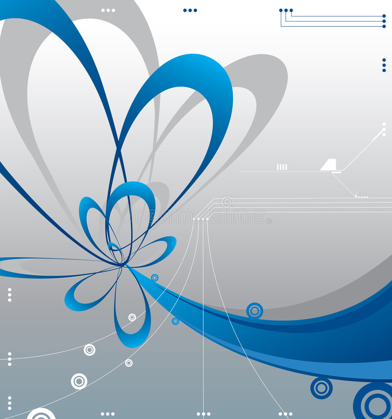 Futuristic vector illustration background design stock illustration