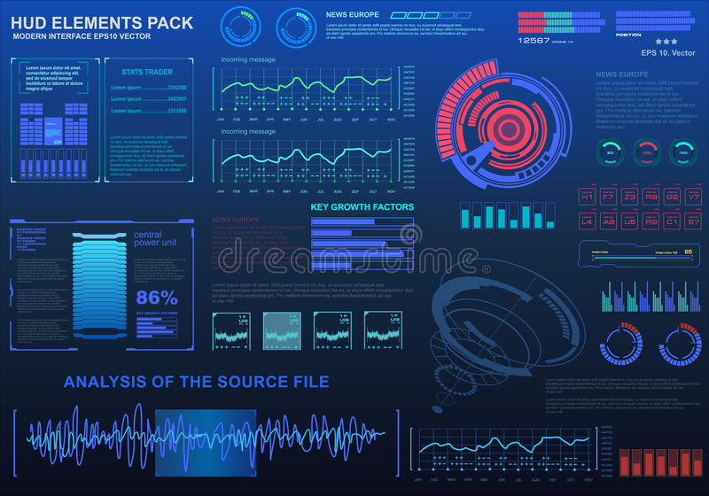 Futuristic virtual graphic touch user interface, target. HUD UI for business app. Futuristic user interface HUD and Infographic elements. Abstract virtual vector illustration