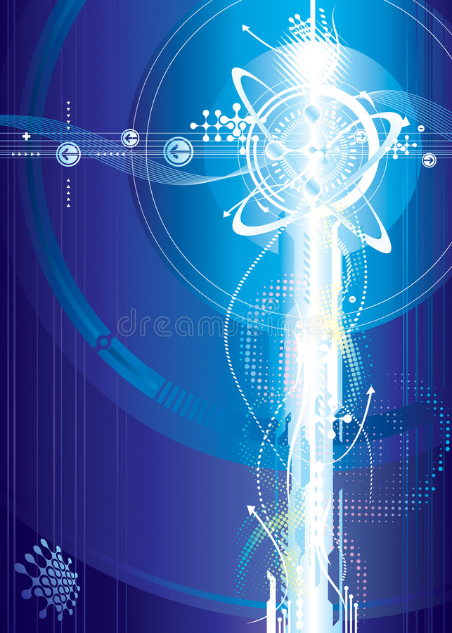 Futuristic Voltage. Futuristic background of Voltage, vector illustration layered royalty free illustration