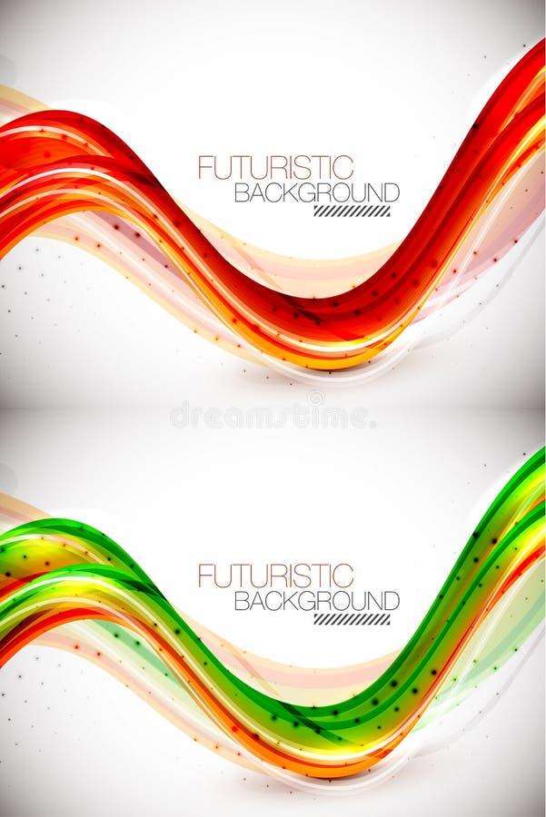 futuristic wave för bakgrund stock illustrationer