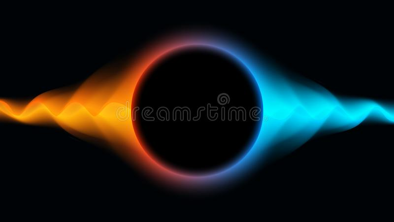 Futuristic Wavy background with abstract liquid flow. Shining abstract. EPS10 Vector Illustration. royalty free illustration