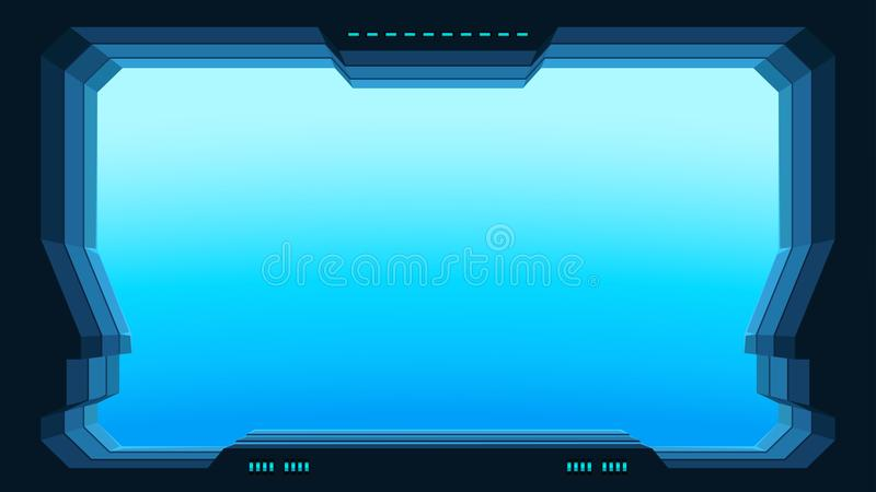 Futuristic window view vector illustration