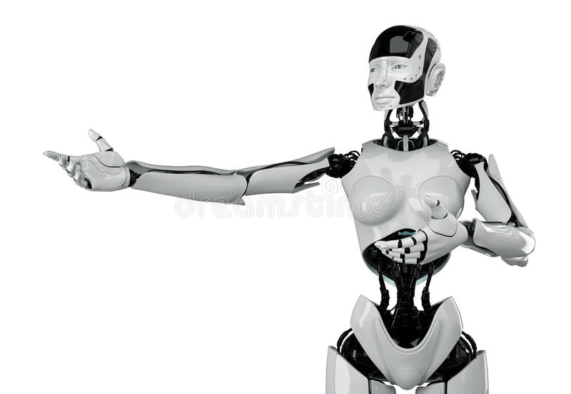Futuristic woman With the wasp waist