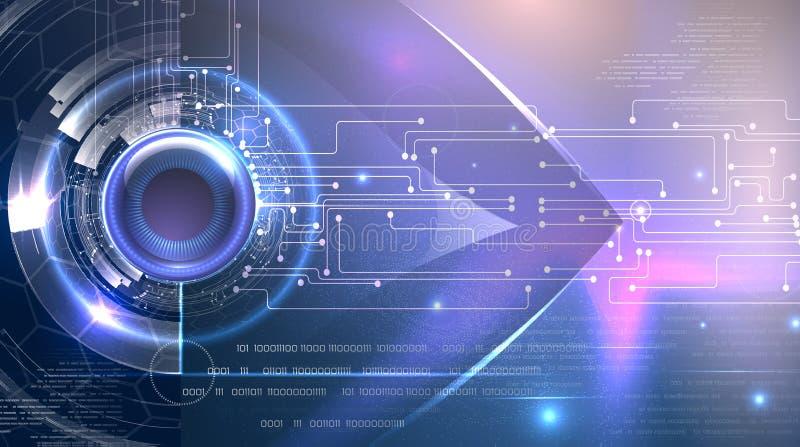 Futuristisch achtergrond cyber oogthema royalty-vrije stock afbeelding