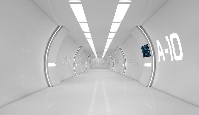 Futuristisch binnenland vector illustratie