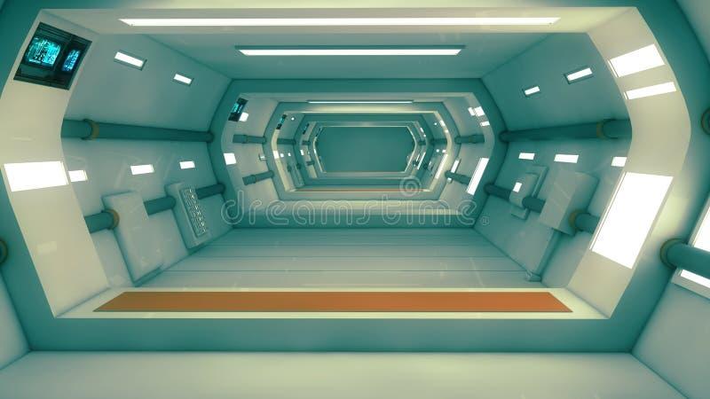 Futuristisch binnenland stock afbeelding
