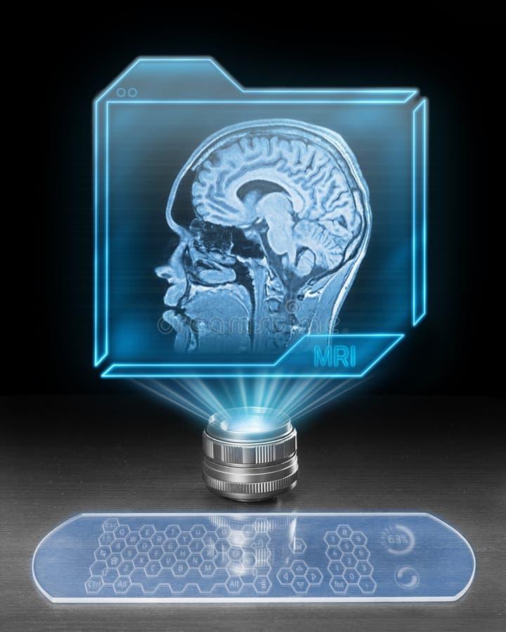 Futuristisch Brain Scan stock afbeeldingen
