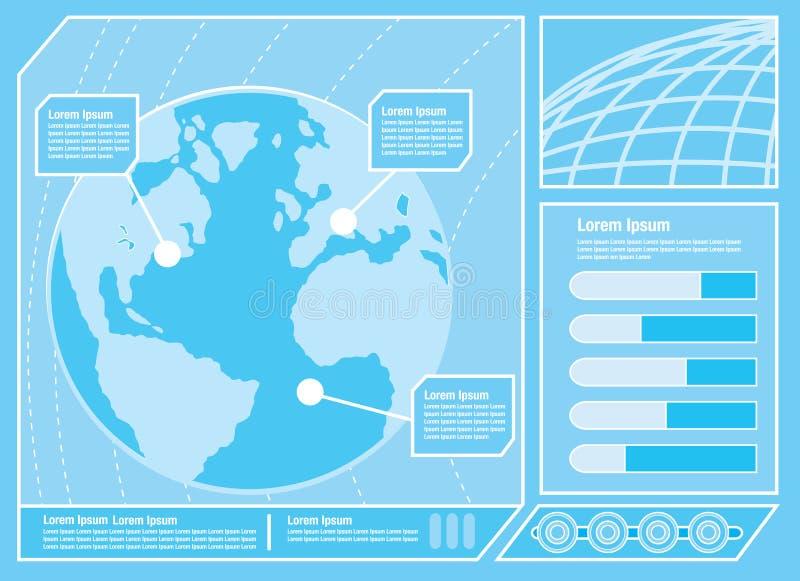 Futuristisch Controlebord Twee vector illustratie