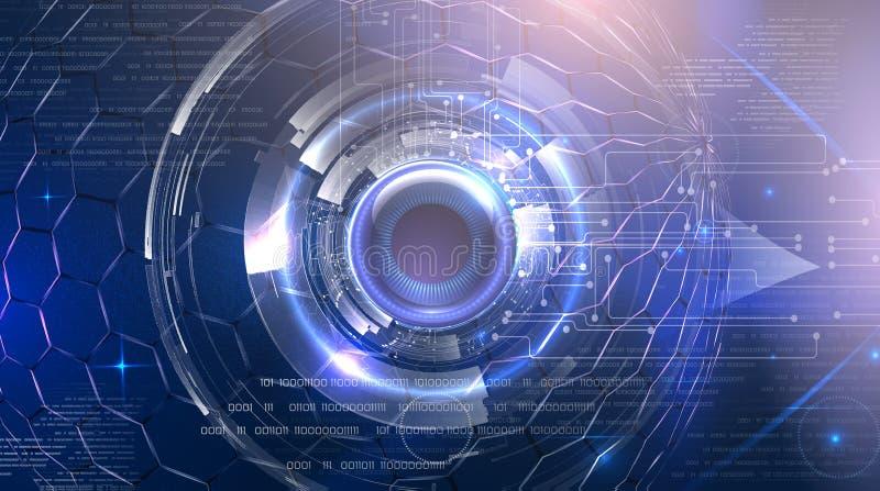 Futuristisch cyberoog royalty-vrije stock foto