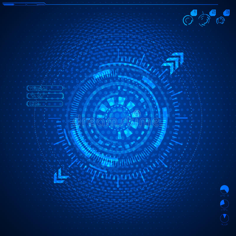 Futuristisch grafisch gebruikersinterface vector illustratie