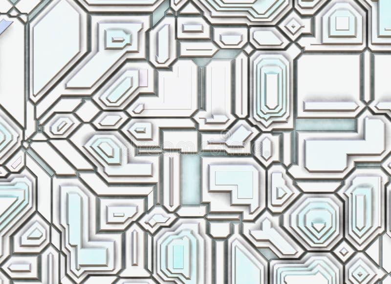 Futuristische abstracte achtergronden. digitale vlotte textuur royalty-vrije illustratie