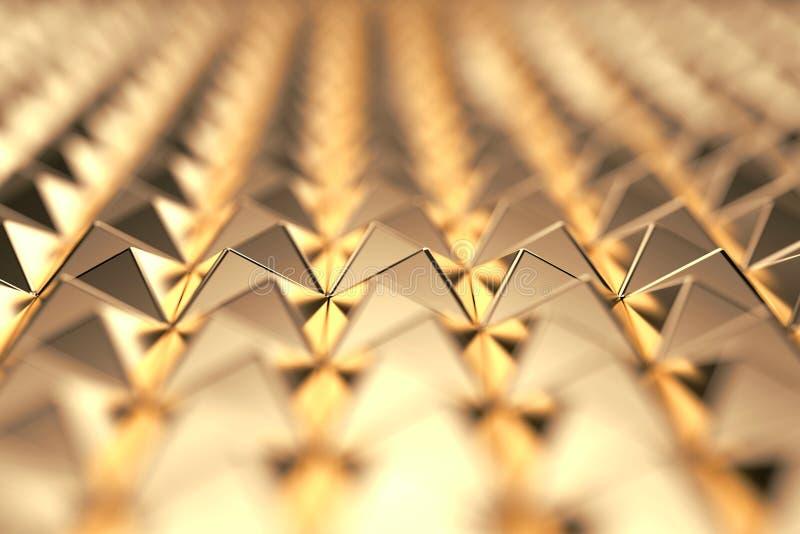 Futuristische Abstracte gouden laag-veelhoekachtergrond het 3d teruggeven stock illustratie