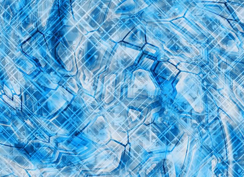 Futuristische abstracte technologie-toestelachtergronden royalty-vrije illustratie