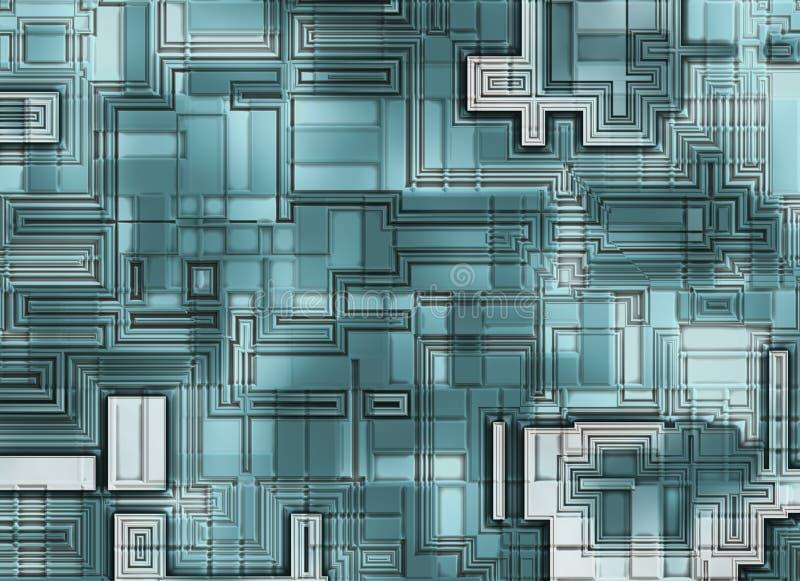 Futuristische abstrakte Hintergründe. digitale glatte Beschaffenheit lizenzfreie abbildung