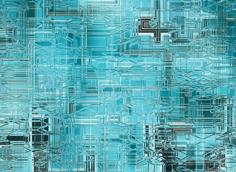 futuristische abstrakte transparente Glashintergründe. digitales smoot lizenzfreie abbildung