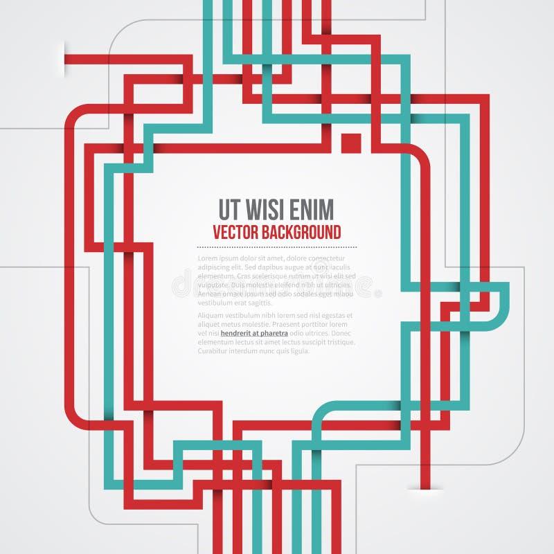 futuristische achtergrond met de kruising van lijnen EPS10 vector illustratie