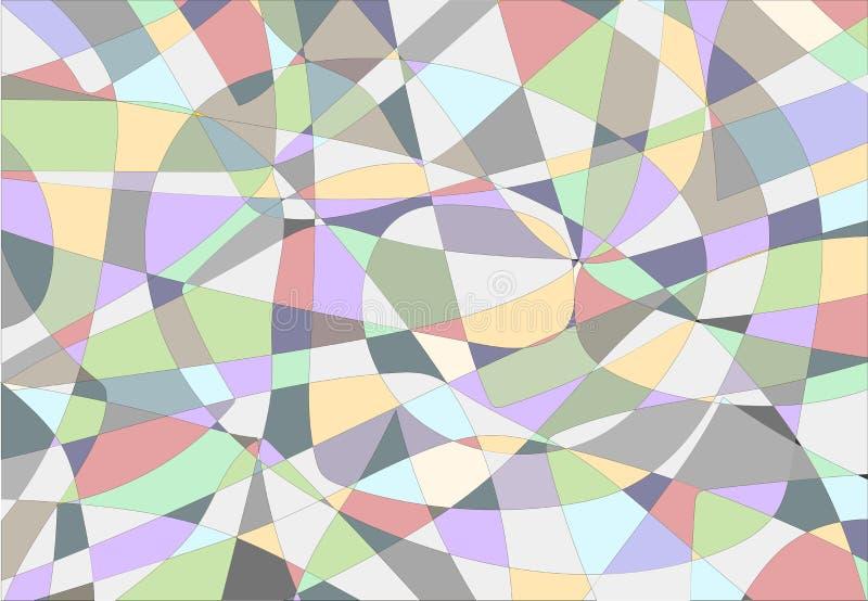 Futuristische achtergrond met lijnen en abstract mozaïek vector illustratie