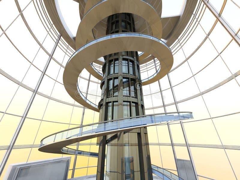 Futuristische Architectuur vector illustratie