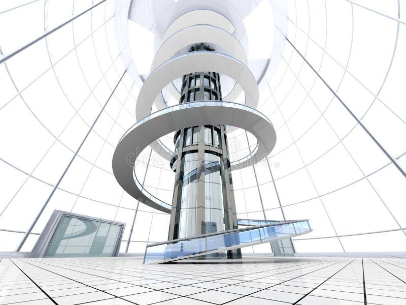 Futuristische Architectuur Royalty-vrije Stock Afbeelding